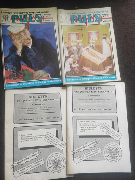 4 biuletyny Okręgowej Izby Lekarskiej '93, '96 i '97 r.