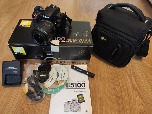 NIKON D5100 18-55 VR Kit + сумка Case Logic + картка 16 GB class10