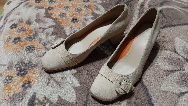 Туфли замшевые Ecco Екко 39 размер (на стопу 25,5 см.)