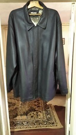 Куртка шкіряна чоловіча великого розміру