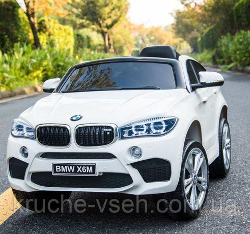 Детский электромобиль Джип JJ 2199 EBLR-1, BMW X6M, кож. сиденье, EVA