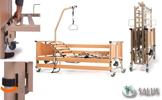 Łóżko rehabilitacyjne elektryczne sterowane z pilota Luna Basic 2