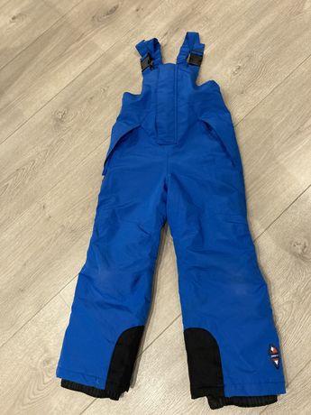 Spodnie narciarskie zimowe szelkach 110/116 dla dziecka 4-6 lat lidl