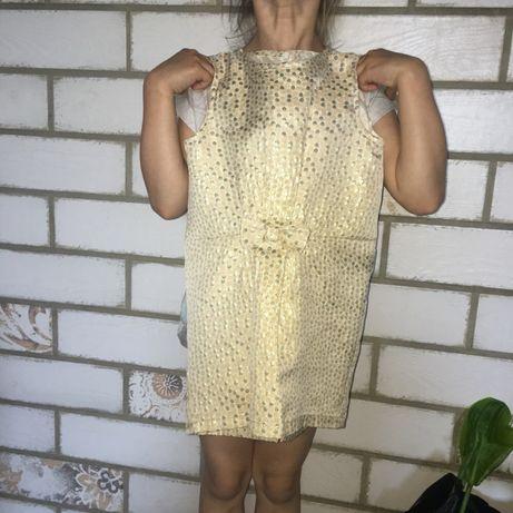Złota sukienka Reserved 116/122