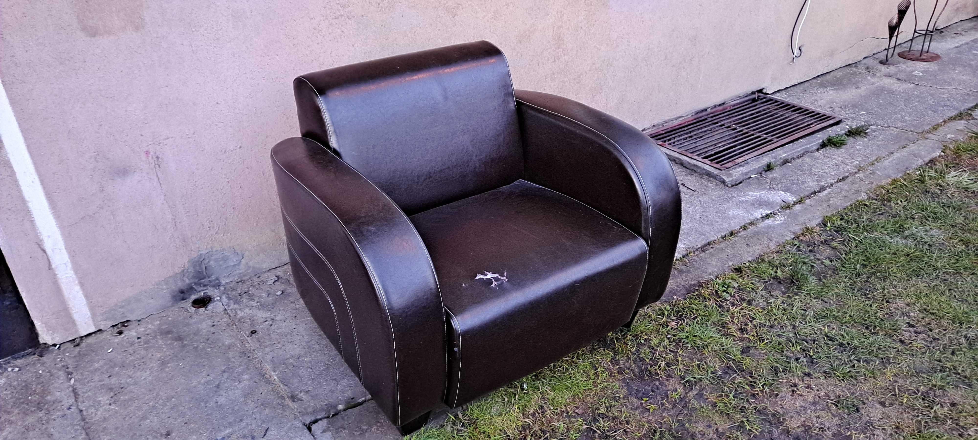 Fotel skórzany Larry