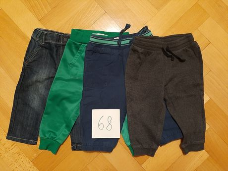 Zestaw 4szt. spodenki spodnie rozmiar 68