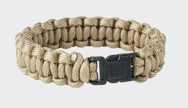 Bransoletka Helikon Survival Bracelet Paracord Coyote