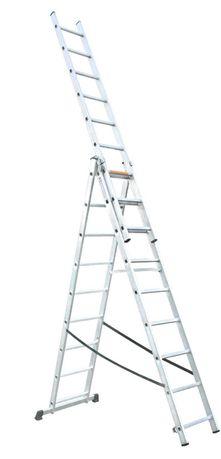 Escada Alumínio Extensível 3x9D MADER HOME