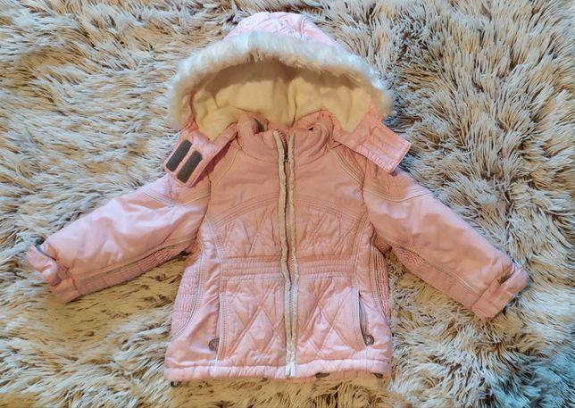 Зимняя термокуртка, курточка Chicco + краги