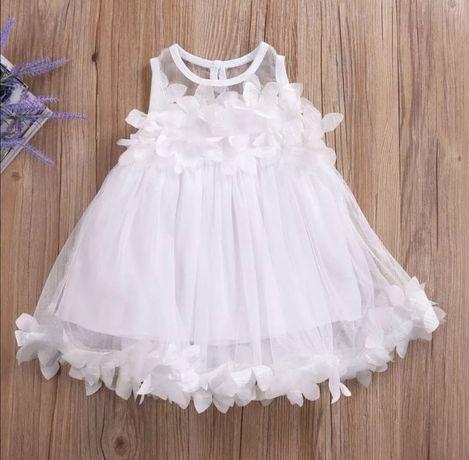 Tiulowa sukienka 128-134
