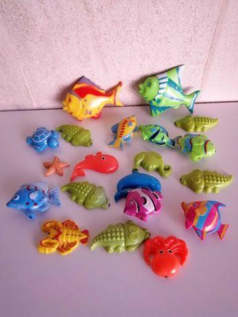 Conjunto peixes e outros animais