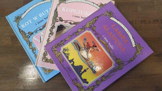 Zestaw 3 ksiazek z serii złota encyklopedia bajek wydawnictwa BGW.