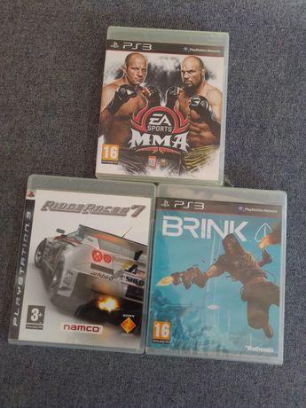 Jogos PS3 - Ridge Racer 7. MMA sports. Brink