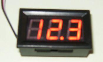 Voltímetro VIsor LCD 12/30V