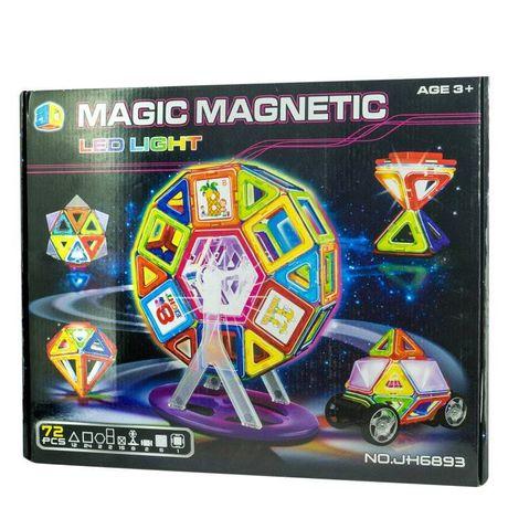 Магнитный конструктор MAGIC MAGNETIC c led подсветкой, 72 элемента