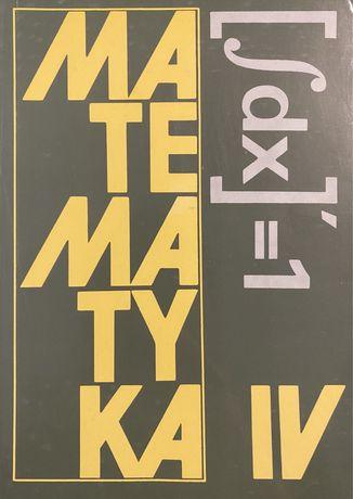 Matematyka 4 (podręcznik) - K. Cegiełka, J. Przyjemski, K. Szymański