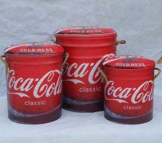 Bancos Coca Cola (3 unidades)