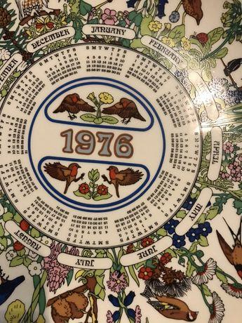 Talerz kalendarz 1976 Wedgwood