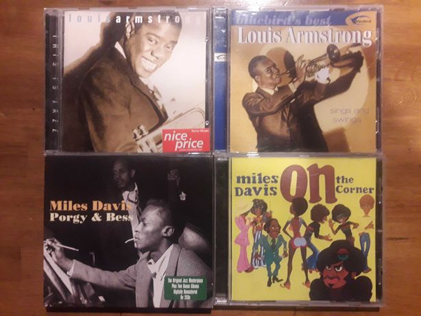 4 Cd Jazz  2 Miles Davis 2 Louis Armstrong On the corner Porgy & Bess
