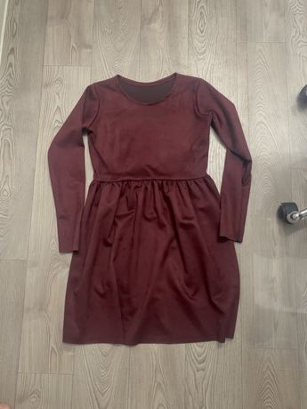 Платье бархатное марсала бордовое, плаття