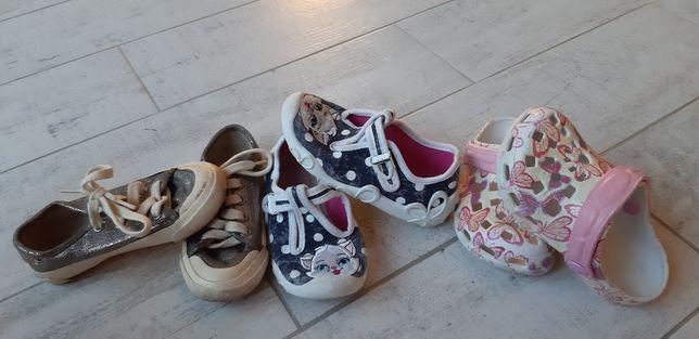 Buty zestaw roz.25. Trampki Zara, papcie, klapki