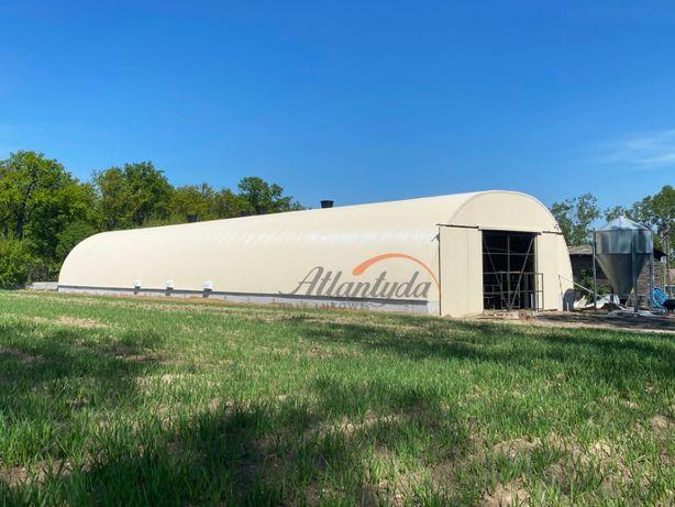 Hala Łukowa na bale stalowa 9,30x30m wiata hangar garaż konstrukcja