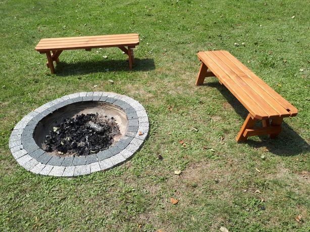 Ławki ogrodowe do ogniska ławeczki ogniskowe