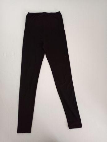 Legginsy spodnie ciążowe czarne damskie M