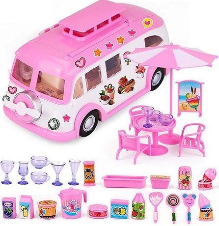 Набор кукольный Автобус для путешествий Пикник 30 предметов