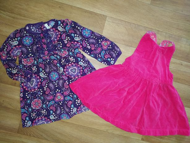 Платье+ сарафан для девочки на 12-18 мес.