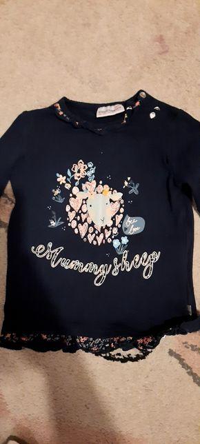 Ubranka bluza, koszulki leginsy dziewczynka 86