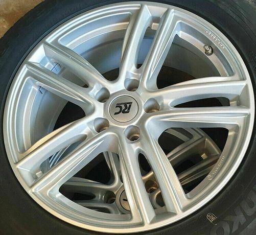 Aluminiowe koła letnie vw audi seat skoda mercedes 215/55R17 continent