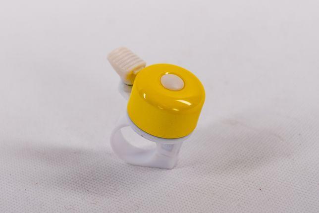 Dzwonek rowerowy, mały, żółty