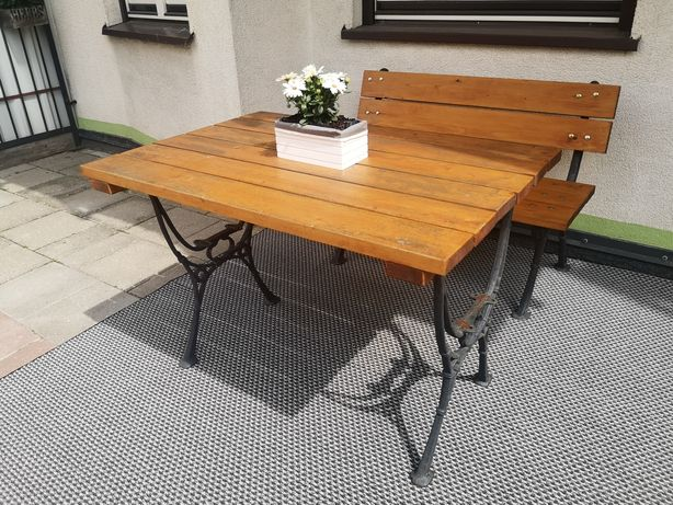 Zestaw mebli na taras/ogród, stół i ławka