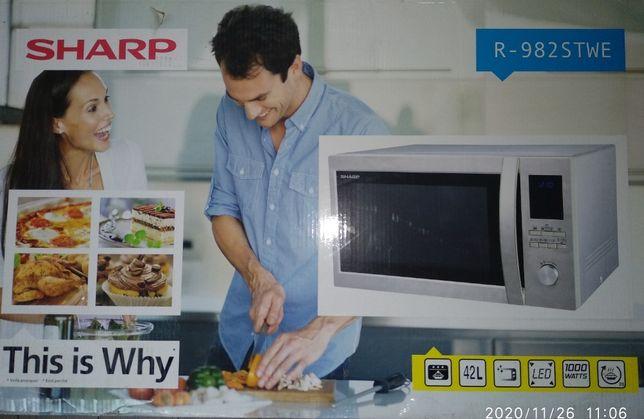 Mikrofalówko - piekarnik SHARP R-982STWE 3w1,42Litry, 1000W Nowa