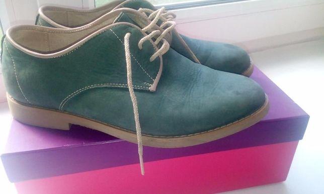 Стильные кожаные туфли (туфлі шкіряні)