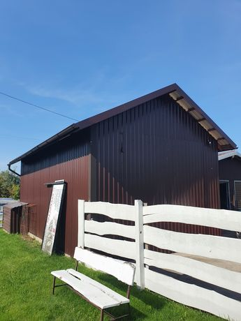 Duży Garaż blaszany blaszak konstrukcja drewniana 5x7