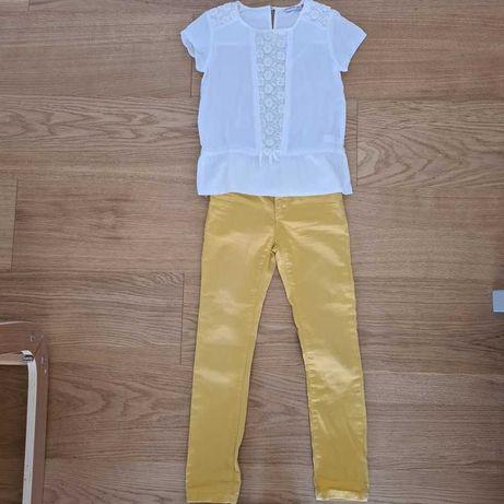 Jeansy Nowe + bluzeczka 128cm