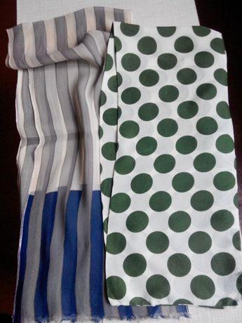 Легкие шарфы, аксессуар, ретро, винтаж.