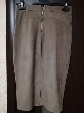 Юбка-карандаш замшевая юбка