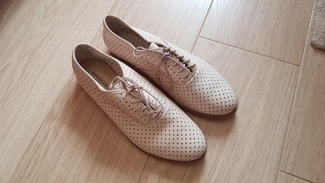 Nowe skórzane buty firmy Wojas 39