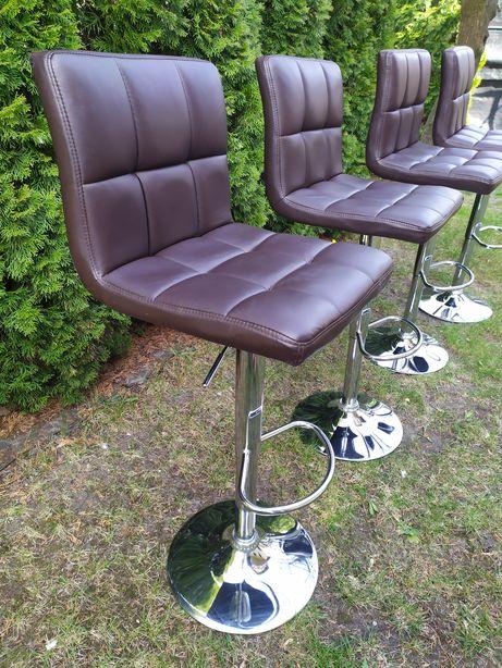 Krzesła obrotowe hokery barowe ekoskóra