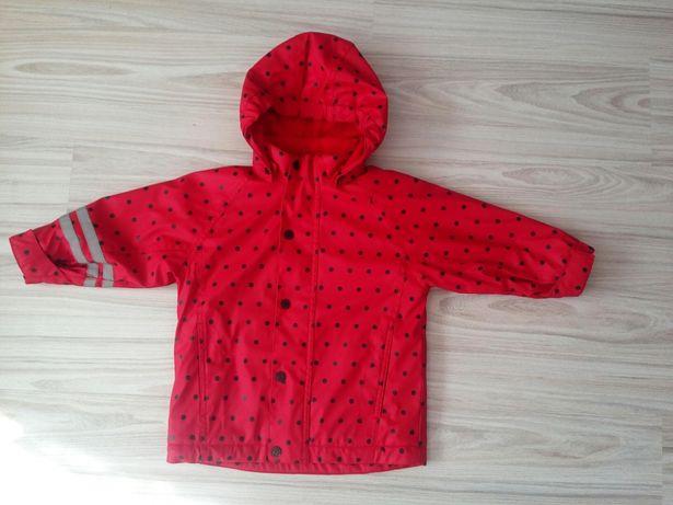 Wiosenno-jesienna nieprzemakalna kurteczka dla dziecka rozmiar 92