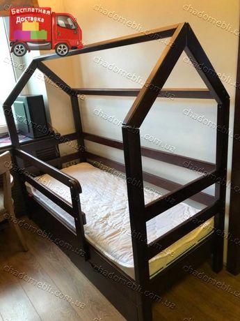 Ліжко Будиночок з високими бортиками дерево Вільха / Ліжечко будинок