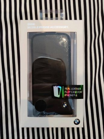 BMW real leather flap case for iPhone 6