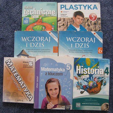 Książki do klas 4-6 oraz zbiór zadań i powtórka z matematyki