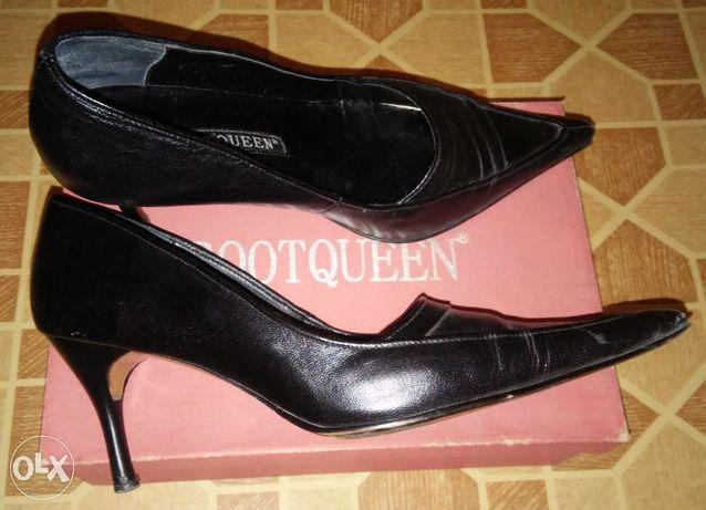 Кожаные туфли классика 24 см (на 37р.)