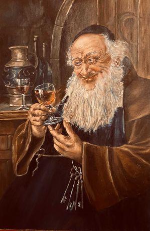 """картина маслом. """"Винодел"""" по мотивам Э. Новака.  40*60см."""