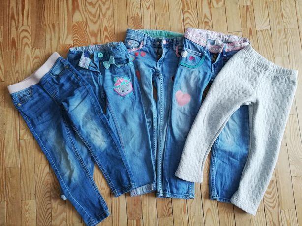 Spodnie dziewczęce 110