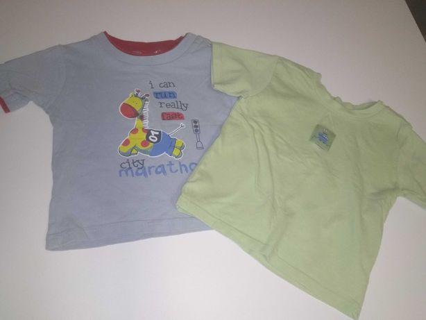 Koszulki chłopak 9-12 mc